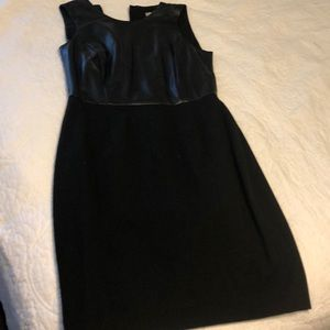 Black dress with leather top half